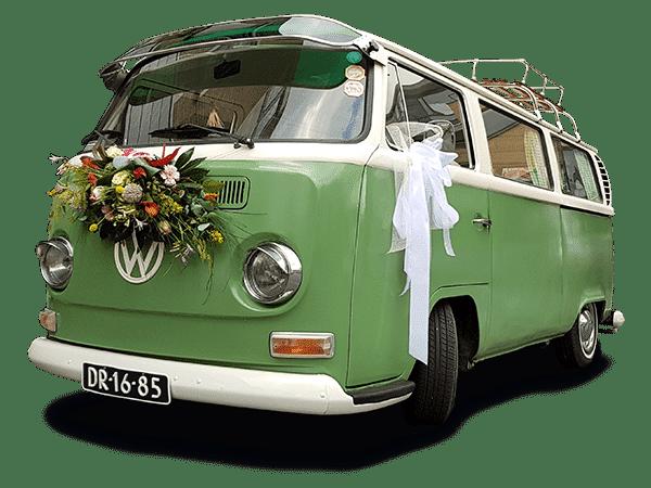 Dr Green Volkswagenbus trouwvervoer nederland