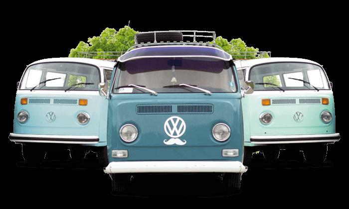 VW trio Volkswagenbussen